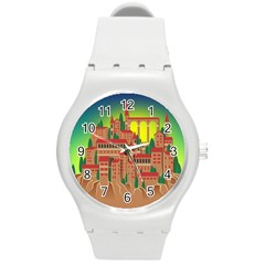 Mountain Village Mountain Village Round Plastic Sport Watch (m)