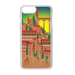Mountain Village Mountain Village Apple Iphone 8 Plus Seamless Case (white)
