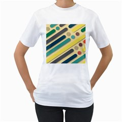 Background Vintage Desktop Color Women s T Shirt (white) (two Sided)