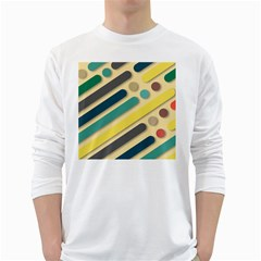 Background Vintage Desktop Color White Long Sleeve T Shirts