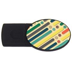 Background Vintage Desktop Color Usb Flash Drive Oval (4 Gb)
