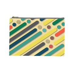 Background Vintage Desktop Color Cosmetic Bag (large)