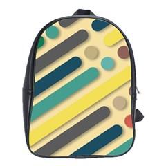 Background Vintage Desktop Color School Bag (large)