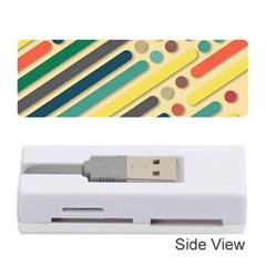 Background Vintage Desktop Color Memory Card Reader (stick)