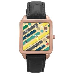 Background Vintage Desktop Color Rose Gold Leather Watch