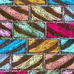 Colorful Painted Bricks Street Art Kits Art Magic Photo Cubes by Costasonlineshop