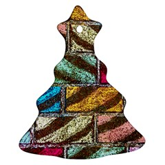Colorful Painted Bricks Street Art Kits Art Christmas Tree Ornament (two Sides) by Costasonlineshop