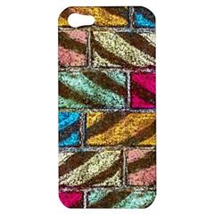 Colorful Painted Bricks Street Art Kits Art Apple Iphone 5 Hardshell Case