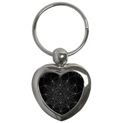 Sacred Geometry Music 144links Key Chains (heart)  by Cveti
