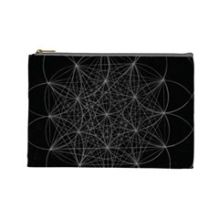Sacred Geometry Music 144links Cosmetic Bag (large)  by Cveti