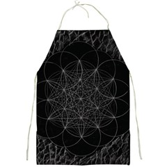 Sacred Geometry Music 144links Full Print Aprons by Cveti