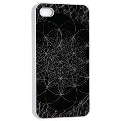 Sacred Geometry Music 144links Apple Iphone 4/4s Seamless Case (white) by Cveti