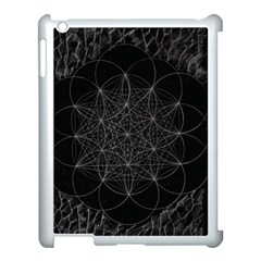 Sacred Geometry Music 144links Apple Ipad 3/4 Case (white) by Cveti