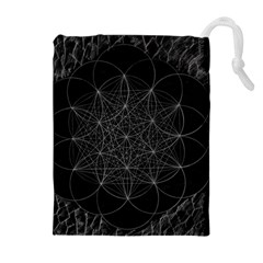 Sacred Geometry Music 144links Drawstring Pouches (extra Large) by Cveti