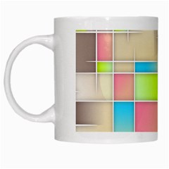 Background Abstract Grid White Mugs