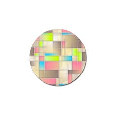 Background Abstract Grid Golf Ball Marker (4 Pack)