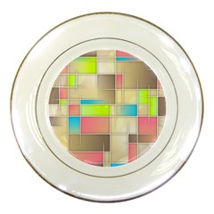 Background Abstract Grid Porcelain Plates