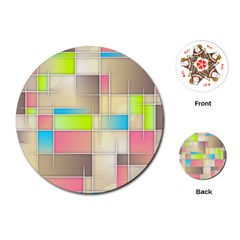 Background Abstract Grid Playing Cards (round)  by Nexatart