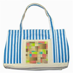Background Abstract Grid Striped Blue Tote Bag