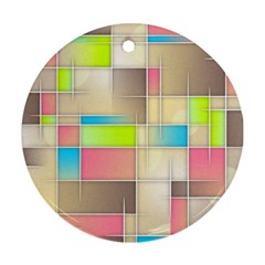 Background Abstract Grid Round Ornament (two Sides)
