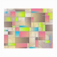 Background Abstract Grid Small Glasses Cloth (2 Side)