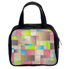 Background Abstract Grid Classic Handbags (2 Sides) by Nexatart