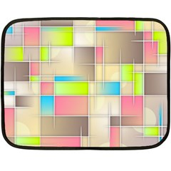 Background Abstract Grid Double Sided Fleece Blanket (mini)