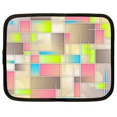 Background Abstract Grid Netbook Case (xl)