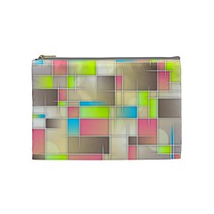 Background Abstract Grid Cosmetic Bag (medium)