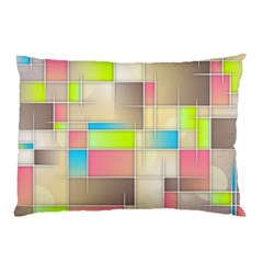 Background Abstract Grid Pillow Case (two Sides)