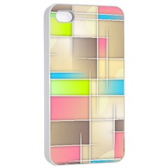 Background Abstract Grid Apple Iphone 4/4s Seamless Case (white)
