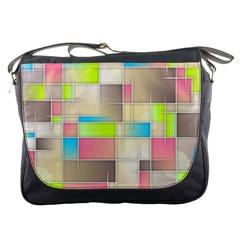 Background Abstract Grid Messenger Bags