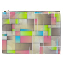 Background Abstract Grid Cosmetic Bag (xxl)