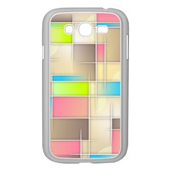 Background Abstract Grid Samsung Galaxy Grand Duos I9082 Case (white)