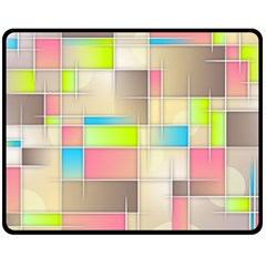 Background Abstract Grid Double Sided Fleece Blanket (medium)