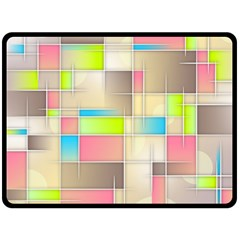 Background Abstract Grid Double Sided Fleece Blanket (large)  by Nexatart