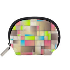 Background Abstract Grid Accessory Pouches (small)