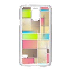 Background Abstract Grid Samsung Galaxy S5 Case (white)