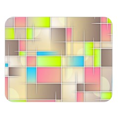 Background Abstract Grid Double Sided Flano Blanket (large)