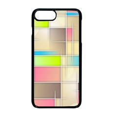 Background Abstract Grid Apple Iphone 8 Plus Seamless Case (black) by Nexatart