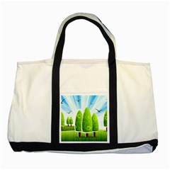 Landscape Nature Background Two Tone Tote Bag
