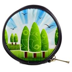 Landscape Nature Background Mini Makeup Bags