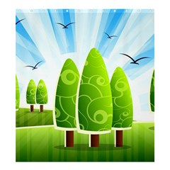 Landscape Nature Background Shower Curtain 66  X 72  (large)