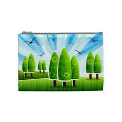 Landscape Nature Background Cosmetic Bag (medium)