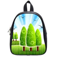 Landscape Nature Background School Bag (small)