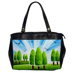 Landscape Nature Background Office Handbags