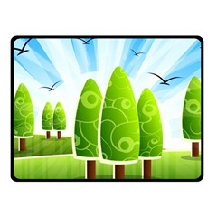Landscape Nature Background Fleece Blanket (small)