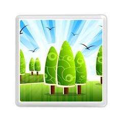 Landscape Nature Background Memory Card Reader (square)