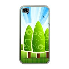 Landscape Nature Background Apple Iphone 4 Case (clear)