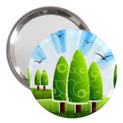 Landscape Nature Background 3  Handbag Mirrors